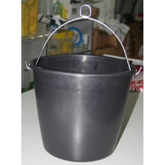 Marine bucket, plastic, black