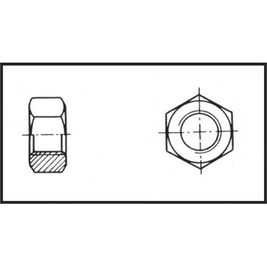 Hexagon nut, Diameter 8 mm