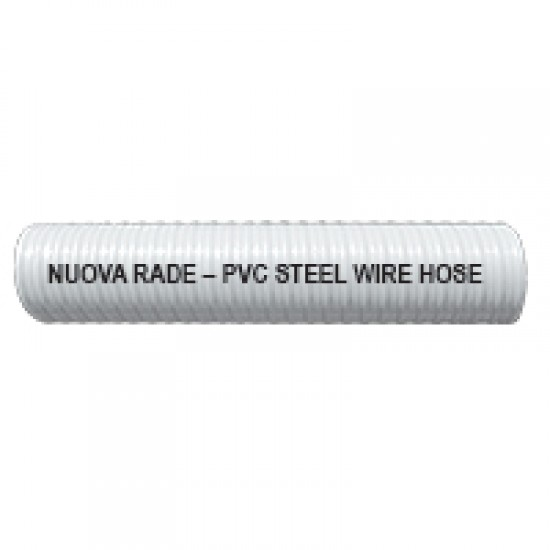 Liquid Discharge and Water Delivery Hose - PVC Clear w/Internal Spiral, Alimpomp/TR 19mm, 3/4''