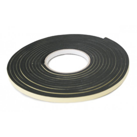 Marine Neoprene Tape ''Hatchseal'', 3m x 19mm x 6mm, black