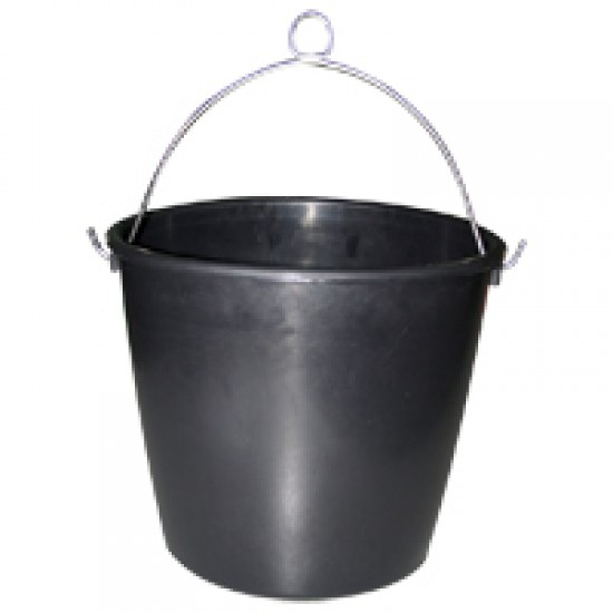 Marine bucket, rubber, black