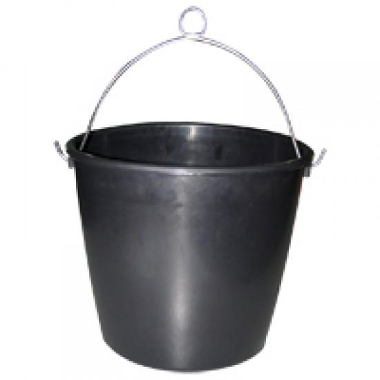 Marine bucket, rubber, black
