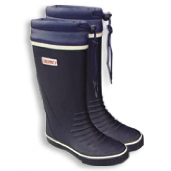 Sailing boots, Long leg tie top rubber, size 42, 43, 44, 45, 46
