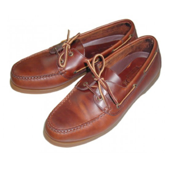 Deck shoes ''Skipper'' Brown leather and Brown sole, Size 42, 43, 44