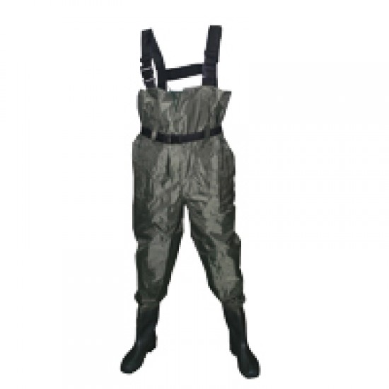 Fisherman Waders, Green, PVC, Boot size 42, 43, 44, 45