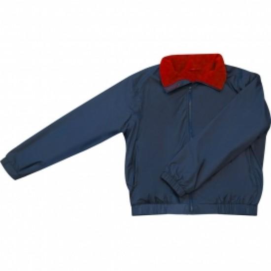 Crew Jacket Navy/Red Fleece