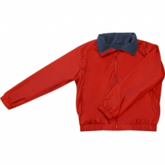 Crew Jacket Red/Navy Fleece