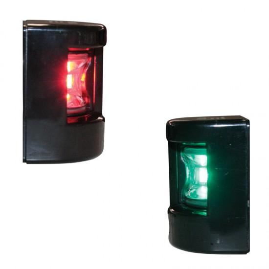 Navigation light Port & Starboard, LED FOS 12, 112.5° (black housing) side mount