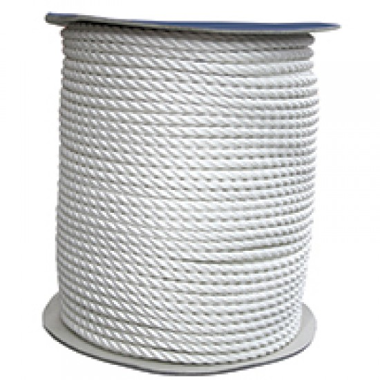 CABO Mooring Rope, three stranded double twisted, white from 8mm to 24mm