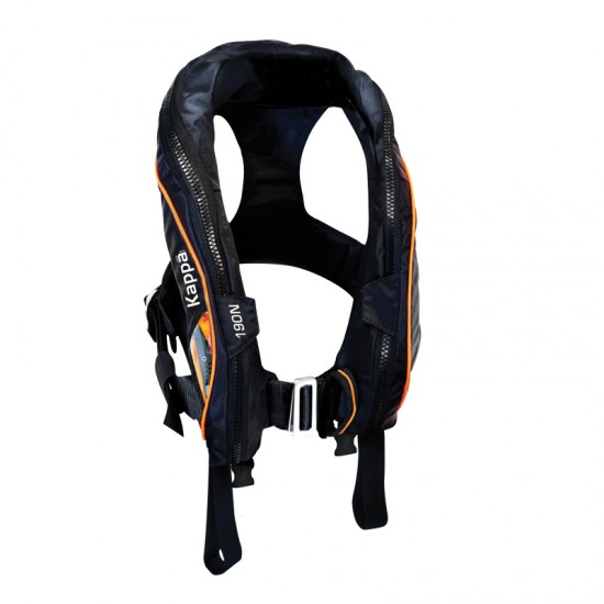 Kappa Infl. Lifejacket Auto Adult,180N, ISO 12402-3, Lalizas JS1, w/double crotch, w/o harness
