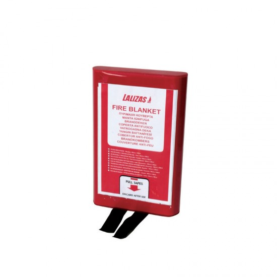 Fire Blanket 100x100cm in a PVC case LALIZAS