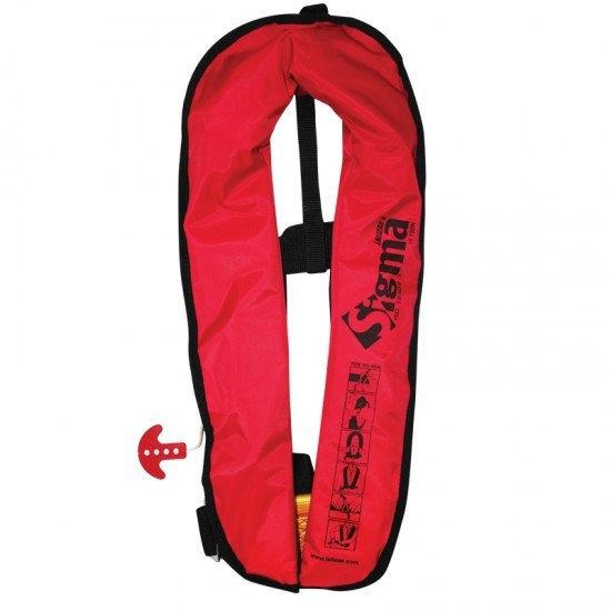 Sigma Auto Lifejacket 170N, ISO 12402-3, Red